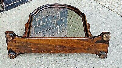 Antique Edwardian Walnut dresser chest pedestal Arched mirror 8