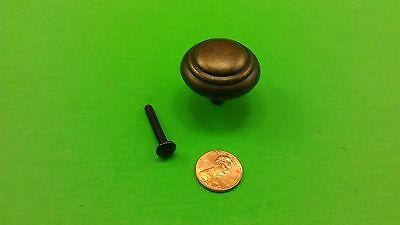 5 Antique Vintage Bronze Round Dresser Drawer Handles/Pulls 3