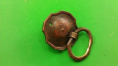 3 ANTIQUE VINTAGE (END OF 19th CENTRURY) DODECAHEDRAL BRONZE DRESSER HANDLES 4
