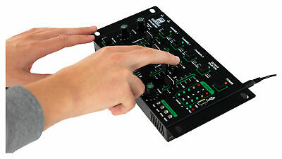 DJ PA Mixer 4 Kanal Mischpult USB MP3 Player Bluetooth Cue Recording Stereo Mic 6
