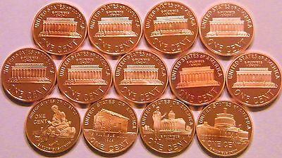 2000-2009 S Lincoln Memorial Cent Gem Deep Cameo Proof Run 13 Coin Set US Mint. 2