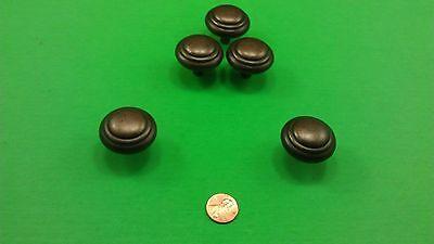 5 Antique Vintage Bronze Round Dresser Drawer Handles/Pulls 7