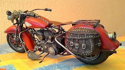 Moto De Metal Vintage Para Decoración 28 Cm 7
