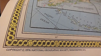 """Vintage 1976 MAP & PORTRAIT U.S.A. National Geographic 28"""" x 42"""" NICE SEE Color"""