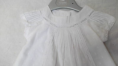 BNWT Baby Girls Mothercare White 100% Cotton Summer Top & Shorts set, 3-6m, £14 3