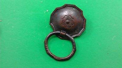 3 ANTIQUE VINTAGE (END OF 19th CENTRURY) DODECAHEDRAL BRONZE DRESSER HANDLES 3