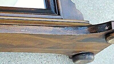 Antique Edwardian Walnut dresser chest pedestal Arched mirror 10