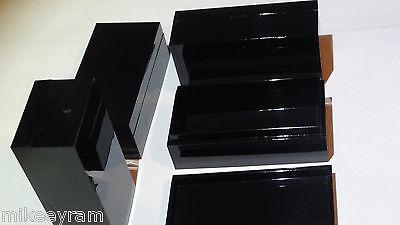 Black 2 x 1 x .7in Lot 8 Mini Plastic Project Box or Electronics Enclosure