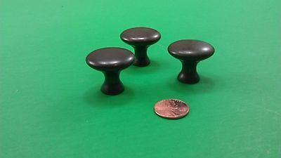 2 Antique Vintage Semisircular & 3 Round Bronze Dresser Drawer Handles 8