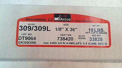 10# ARCOS TIG WELDING ROD 3//32 X 36 IN ER308L AWS A5.9 ASME SFA 5.9  SEC III
