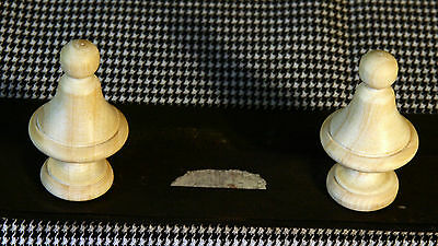 2 Wood FINIALS 49 mm for Antique Wall Clock / Barometer / Mirror / Furniture #7 2