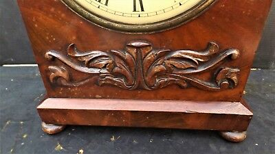 A Mahogany English Bracket Clock  Williamson Of Pimlico London