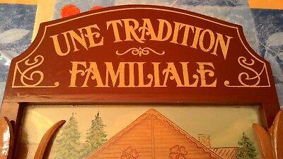 Antiguo Cuadro Francés En Relieve Con Preciosa Escena De Invierno