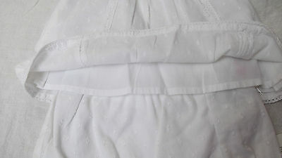 BNWT Baby Girls Mothercare White 100% Cotton Summer Top & Shorts set, 3-6m, £14 4