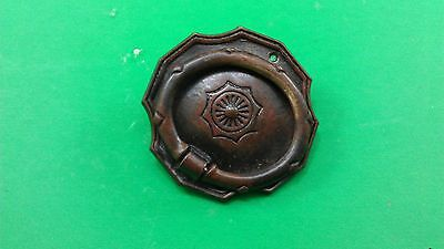 3 ANTIQUE VINTAGE (END OF 19th CENTRURY) DODECAHEDRAL BRONZE DRESSER HANDLES 8
