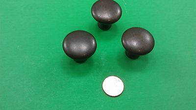 2 Antique Vintage Semisircular & 3 Round Bronze Dresser Drawer Handles 6