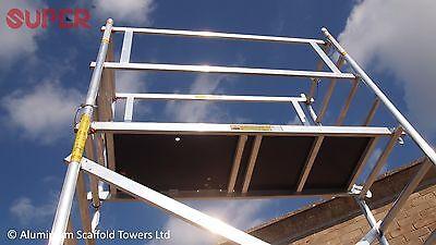 Super DIY 5.2M (3 in ONE) - Aluminium Scaffold Tower, 1m Frames, One Man Tower 8