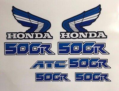 Honda 1986 86 85 ATC ATC500R White Blue 1986 Decals 250R ATC ATC250R 500 500R
