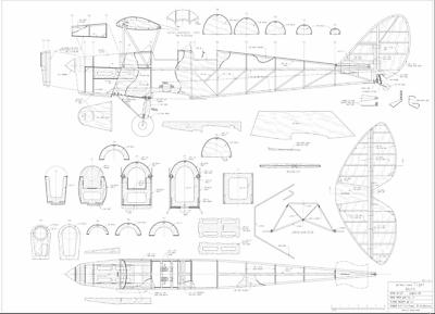 1//10 Scale Electric De Havilland Tiger Moth Plans,Templates /& Instructions 35ws