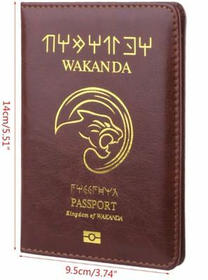 Passport Cover Wakanda Black Panther Travel Credit Card Case ID Holders 6
