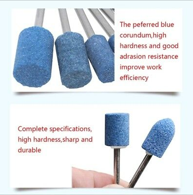 10pcs Ceramic Stone Polishing Grinding Dremel Rotary Die Grinder Drill Bit Tool 5