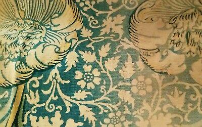 William Morris & Co Curtains ca 1900 w/ Label Arts and Crafts Design Victorian 7