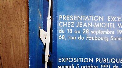 Original LE REGARD D'ALAN Poster 1991 French Modernist Design Serge MOUILLE RARE 4