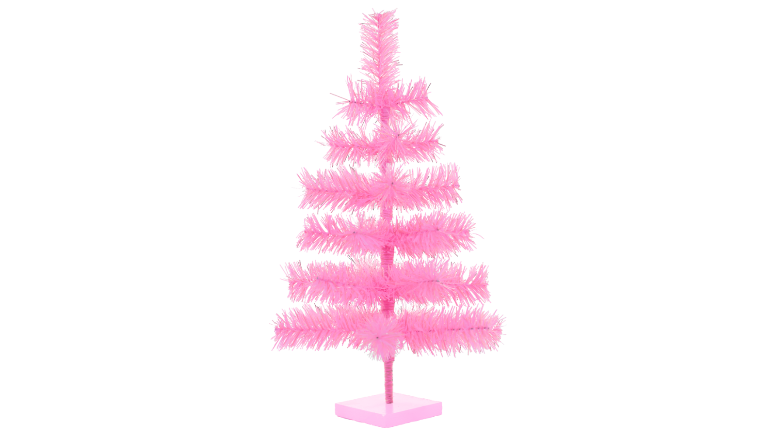 18'' Pink Barbie Tinsel Tree Christmas Holiday Tree 1.5FT Table-Top XMASS 7