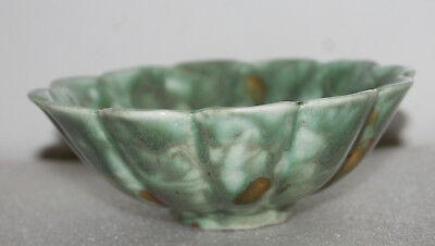 "A RARE and Superb 5.2"" Rare Seen Chinese Tang Sancai Glazed Scallop Bowl 5"