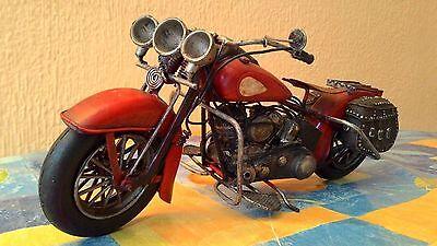 Moto De Metal Vintage Para Decoración 28 Cm 3
