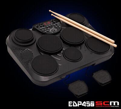 Ashton EDP450 Electronic Digital Drum Pads Bass Drum & Hi Hat Pedals 2