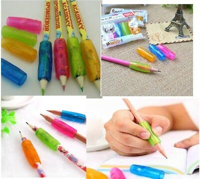 .One pack 4 pcs Kids pencil holding helper grip Hand writing Correction Aid AU 3