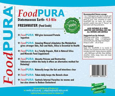 4.5KG Grado Alimentare Codex Farina Fossile De Foodpura Puro Acqua - Umano 2