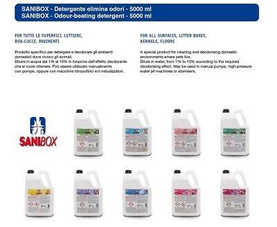 Sanibox in tanica da 5 litri detersivo igienizzante detergente pulizia pavimenti 6