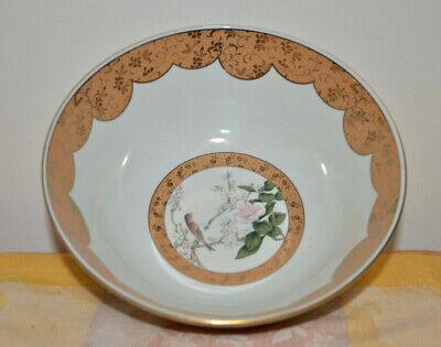 Japanese Kutani-ware Flower Bird pattern Bowl and Plate set Gold Cherry Blossom. 7