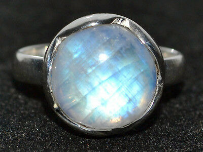 Mystic Moonstone Natural Gemstone Rings 925 Sterling Silver Ring All Sizes L - Z 11