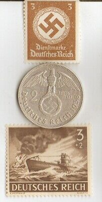 *egyp. *king 'TUT' coin+WW2 -*german SILVER EAGLE + zink coins + RARE  stamps 2