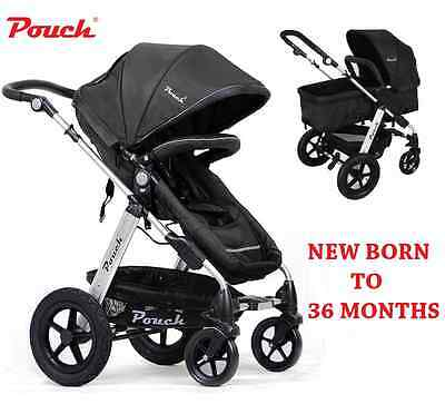 New 2 In 1 Baby Toddler Pram Stroller Jogger Aluminium With Bassinet Black 2