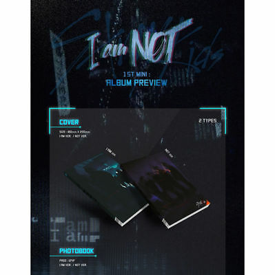 STRAY KIDS [I AM NOT] Album NOT Ver CD+Photo Book+3p Card+GIFT K-POP SEALED 5