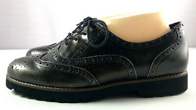 $150 Earthies Santana Wingtip Black Suede Leather Oxford