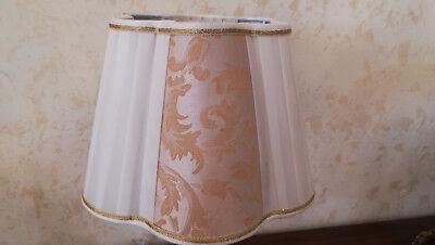 802 LUME GRANDE Lampada In Cristallo Finiture Oro E Paralume