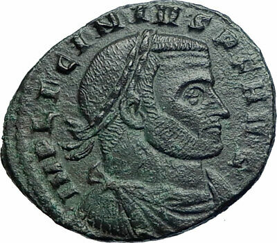 LICNIUS I Authentic Ancient 312AD Rome Roman Coin w LEGIONARY STANDARDS i79768 2