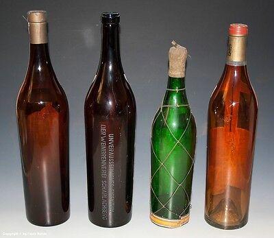 4 x leere Schauflaschen - Dekoflaschen zur Schaufensterdekoration um 1960-65 !? 2