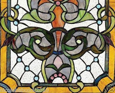 Belle Epoch Estate Manor Iris  Stained Glass Window 3