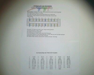 Knüpfstab  1 Set mit  Anleitung zum knüpfen von Bänder Neu Knüpfstern u