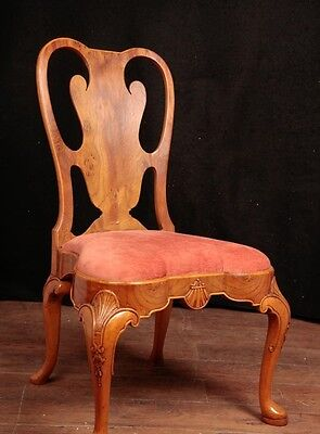 Set 10 Queen Anne Dining Chairs Walnut Diners 4