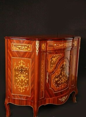 Pair French Empire Cabinets Chests Marquetry Inlay 8