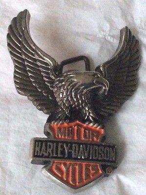 New Vintage Harley Davidson Baron Belt Buckle 1983 Solid Brass H502 2