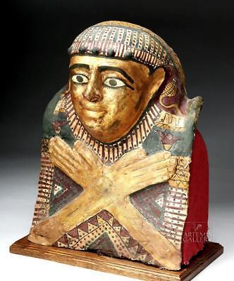 Egyptian Ptolemaic Gilded Child Sarcophagus Helmet Mask Lot 8