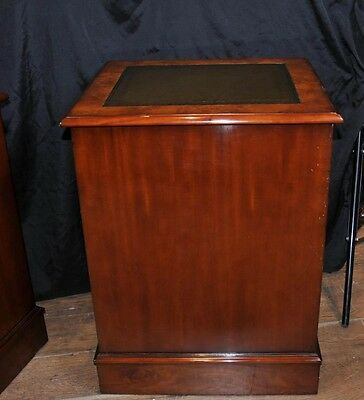 Pair Victorian Walnut Filing Cabinets Office Chest Drawers Furniture 5
